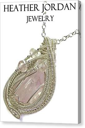 Pink Kunzite Pendant In Sterling Silver With Morganite Knzss6 Canvas Print by Heather Jordan