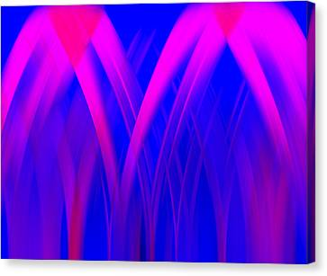 Canvas Print featuring the digital art Pink Lacing by Carolyn Marshall