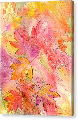 Pink Leaves Canvas Print
