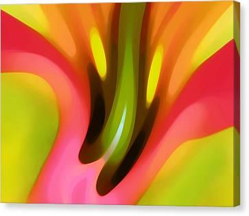Pink Lily Horizontal Canvas Print by Amy Vangsgard