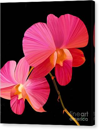 Canvas Print featuring the painting Pink Lux by Rand Herron
