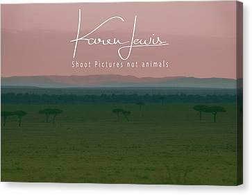 Canvas Print featuring the photograph Pink Mara Dawn by Karen Lewis