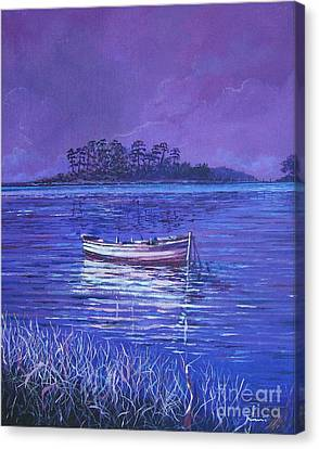 Pink Marsh Canvas Print by Sinisa Saratlic
