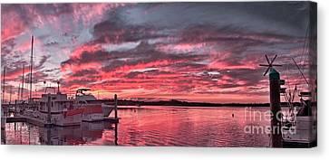 Pink Nautical Dawn.  Canvas Print by Geoff Childs