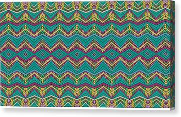 Pink O As Pattern Canvas Print by Modern Metro Patterns and Textiles