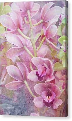Canvas Print featuring the photograph Pink Orchids by Ann Bridges