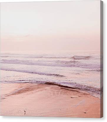 Canvas Print featuring the photograph Pink Pacific Beach by Bonnie Bruno