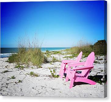 Pink Paradise Vanilla Pop Canvas Print by Chris Andruskiewicz