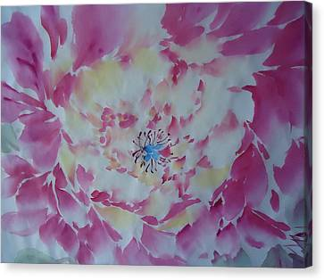 Pink Peony 002 Canvas Print by Dongling Sun