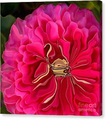 Pink Perky Zinna  Canvas Print by Patricia A Williams