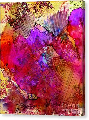 Pink Petals II Canvas Print by Angela L Walker