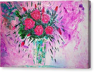 Canvas Print featuring the painting Pink by Piety Dsilva