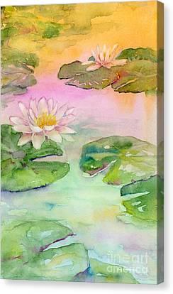 Pink Pond Canvas Print by Amy Kirkpatrick