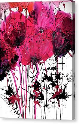 Pink Poppy Print Canvas Print by Irina Rumyantseva
