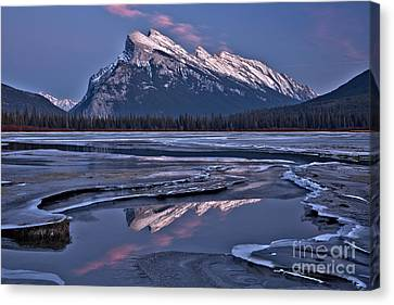Canvas Print - Pink Puffs Over Rundle by Adam Jewell