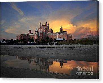 Pink Reflections Canvas Print by David Lee Thompson
