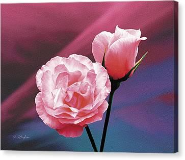 Pink Roses Canvas Print by Jan Baughman