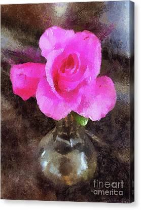 Pink Rozalea Canvas Print
