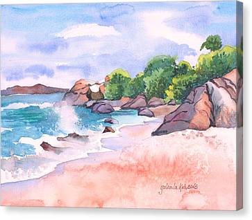 Canvas Print featuring the painting Pink Sands by Yolanda Koh