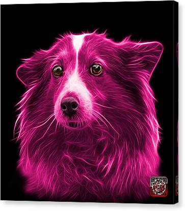 Pink Shetland Sheepdog Dog Art 9973 - Bb Canvas Print