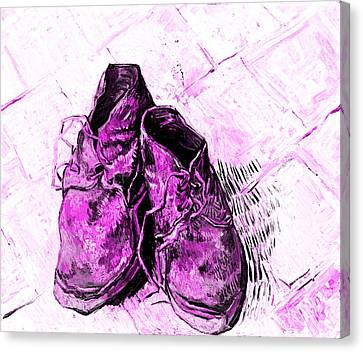 Canvas Print featuring the photograph Pink Shoes by John Stephens