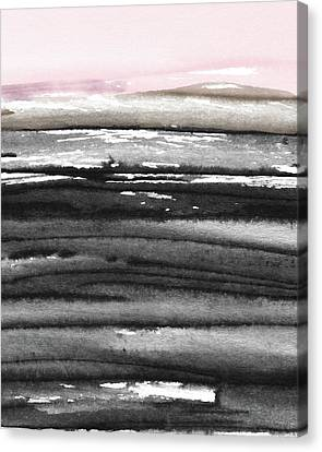 Canvas Print featuring the mixed media Pink Sky Horizon- Art By Linda Woods by Linda Woods