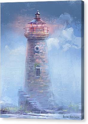 Pink Sky Canvas Print by Kristina Vardazaryan