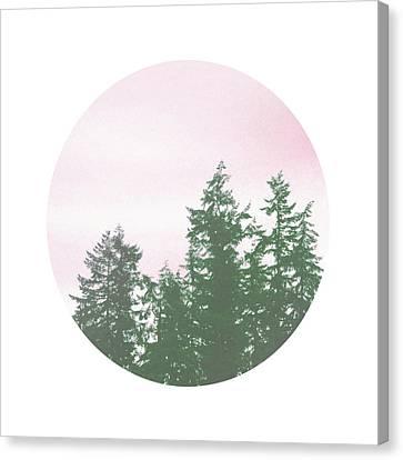 Pink Sky Trees- Art By Linda Woods Canvas Print