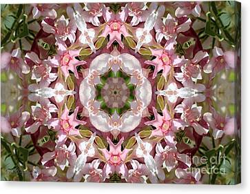 Pink Splash Kaleidoscope Canvas Print