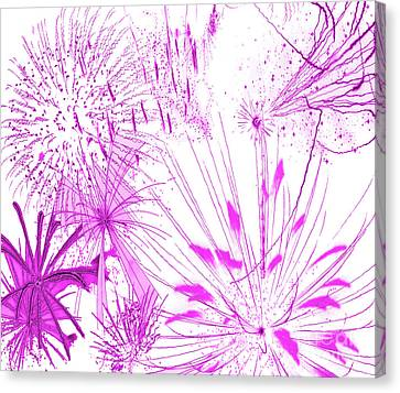 Pink Splash Watercolor Canvas Print by Methune Hively
