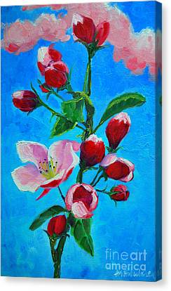 Canvas Print featuring the painting Pink Spring by Ana Maria Edulescu