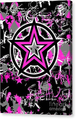 Pink Star Graphic Canvas Print