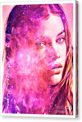 Pink Stargazing Canvas Print by Andrea Rigoni