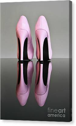 Pink Stilettos Canvas Print by Terri Waters