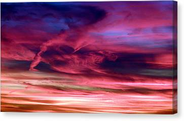 Pink Sunset Canvas Print by Tim Mattox