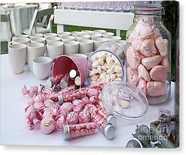 Pink Sweets And Candy Buffet  Canvas Print by PhotoStock-Israel