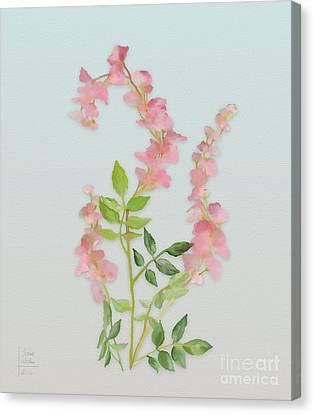 Pink Tiny Flowers Canvas Print by Ivana Westin