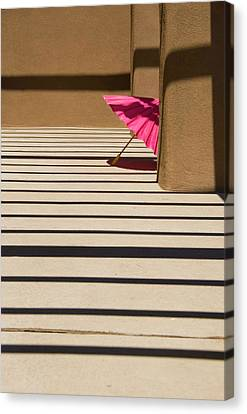Canvas Print featuring the photograph Pink Umbrella by Carolyn Dalessandro