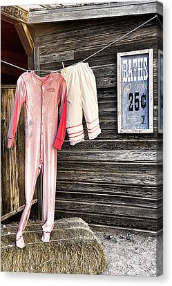 Pink Undies Canvas Print by Wendy White