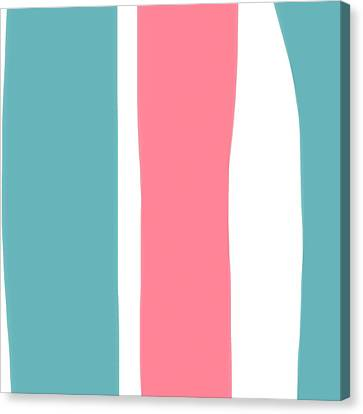 Pink White Blue 2 Canvas Print