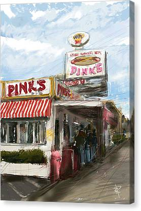 Hamburger Canvas Print - Pinks by Russell Pierce