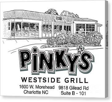 Pinkys T Shirt Design Canvas Print