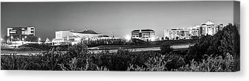 Concert Images Canvas Print - Pinnacle Hills Skyline Panorama - Bentonville - Rogers - Northwest Arkansas - Black And White by Gregory Ballos