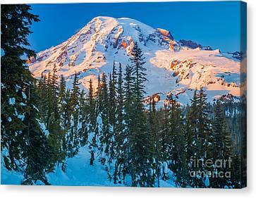 Pinnacle Saddle Winter Canvas Print by Inge Johnsson
