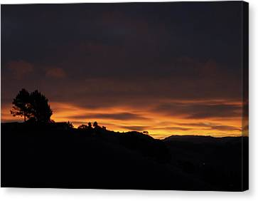 Pinole Valley At Dawn Canvas Print