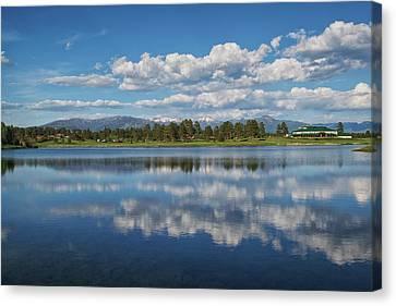 Pinon Lake Reflections Canvas Print by Jason Coward