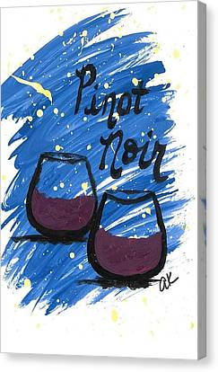 Pinot Noir Canvas Print by Alyson Appleton