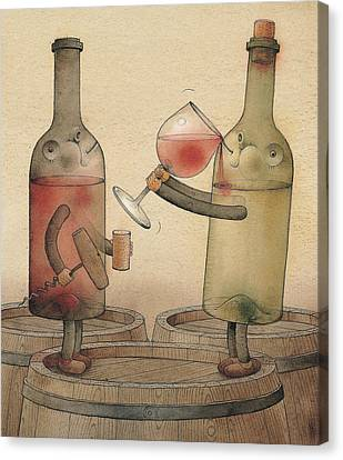 Pinot Noir And Chardonnay Canvas Print by Kestutis Kasparavicius