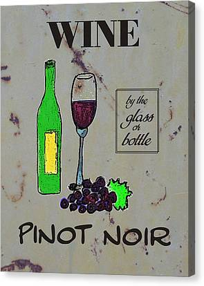 Pinot Noir Wine  Canvas Print by Priscilla Wolfe