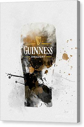 Pint Of Guinness Canvas Print by Rebecca Jenkins